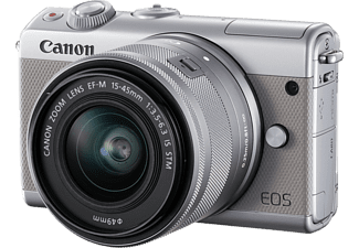 CANON Hybride camera EOS M100 Grijs + 15-45 mm Zilver Limited Edition (2211C049AA)