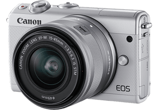 CANON Hybride camera EOS M100 Wit + 15-45mm Zilver Limited Edition