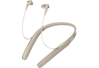 SONY WI 1000 X, In-ear Kopfhörer, Near Field Communication, Headsetfunktion, Bluetooth, Gold