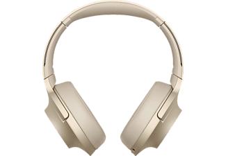 SONY WH-H 900 N, Over-ear Kopfhörer, Near Field Communication, Headsetfunktion, Bluetooth, Gold