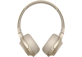 SONY WH-H 800, Over-ear Kopfhörer, Near Field Communication, Headsetfunktion, Bluetooth, Gold