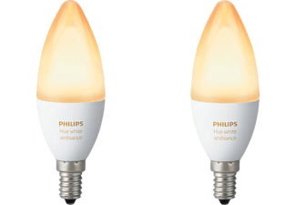 PHILIPS Hue White Ambiance, LED Leuchtmittel, 6 Watt, kompatibel mit: HomeKit, QIVICON, SmartHome, ZigBee, Amazon Echo, Echo Dot, Google Home