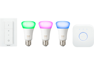 PHILIPS Hue White and Color Ambiance Starter Kit Beleuchtungssystem (Weiß)