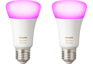 PHILIPS Hue White & Color Ambiance Doppelpack, LED Leuchtmittel, 10 Watt, kompatibel mit: HomeKit, QIVICON, SmartHome, ZigBee, Amazon Echo, Google Home