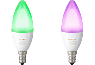 PHILIPS Hue White & Color Ambiance, LED Leuchtmittel, 6.5 Watt, kompatibel mit: HomeKit, QIVICON, SmartHome, ZigBee, Amazon Echo, Echo Dot, Google Home