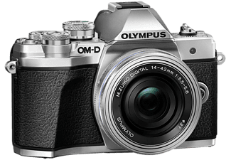 OLYMPUS OM-D E-M10 Mark III 14-42mm Pancake Zoom Kit, silber