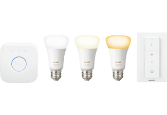 PHILIPS Hue White Ambiance, Starter Kit, 9.5 Watt