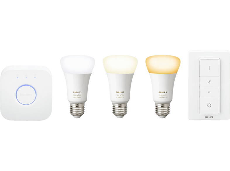 PHILIPS Hue White Ambiance Starter Kit Warmweiß, Kaltweiß