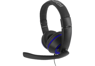 NORDIC GAME SUPPLY SU-SA5302 X-Storm Tactical, Game & Chat Headset, Schwarz/Blau