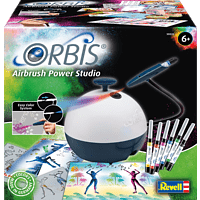 ORBIS Airbrush Power Studio Airbrush, Schwarz/Weiß