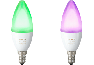 PHILIPS HUE Ambiance Wit & Kleur kaarslamp 2-Pack Wit