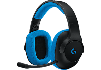 LOGITECH G233 Prodigy Wired Gaming Headset - Black/Cyan (981-000703)