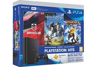 SONY PS4 500GB E + HZD + DC + R&C + 3m PS Plus Oyun Konsolu