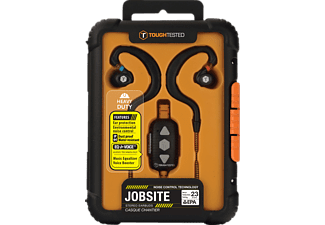 TOUGH TESTED Jobsite, In-ear Headset, Headsetfunktion, spritzwassergeschützt, Schwarz/Oorange