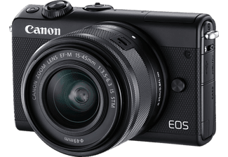 CANON EOS M100 Kit Systemkamera 24.2 Megapixel mit Objektiv 15-45 mm f/6.3, 7.5 cm Display   Touchscreen, WLAN