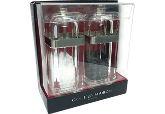 COLE & MASON H307398P Kempton, Salz-/Pfeffermühle, Transparent, 130 mm