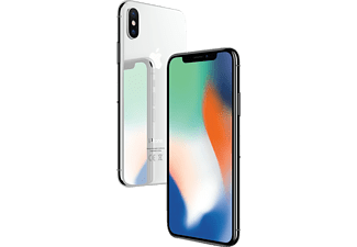 APPLE iPhone X, Smartphone, 256 GB, Silber