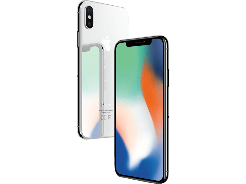 APPLE iPhone X 256 GB Silber