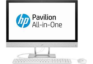 HP Pavilion All-in-One – 24-r002ng, All-in-One-PC mit 23.8 Zoll, 1 TB Speicher, 8 GB RAM, Core™ i3 Prozessor, Intel® HD-Grafik 630, Weiß