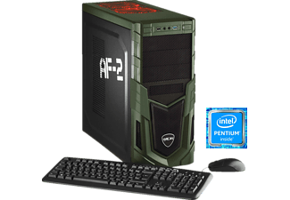 HYRICAN MILITARY 5567, Gaming PC mit Pentium® Prozessor, 8 GB RAM, 1 TB HDD, Geforce® GTX 1050, 2 GB GDDR5 Grafikspeicher