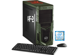 HYRICAN MILITARY 5242, Gaming PC mit Core™ i5 Prozessor, 8 GB RAM, 1 TB HDD, Geforce® GTX 1050, 2 GB GDDR5 Grafikspeicher