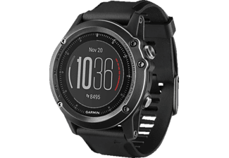 GARMIN  Fenix 3 saphir HR, Smart Watch, 238 mm, Silikon, Schwarz