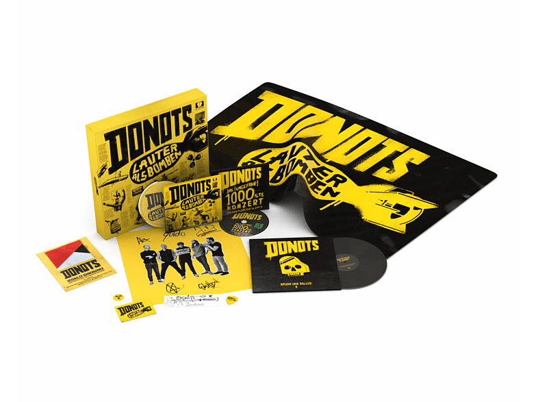 Donots - Lauter als Bomben (Limitierte Fan Box inkl. CD, Live DVD + Vinyl Single uvm.) [CD + DVD + LP]