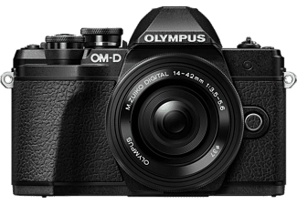 OLYMPUS OM-D E-M10 Mark III Kit Pancake Systemkamera 16.1 Megapixel mit Objektiv 14-42 mm f/5.6, 7.6 cm Display   Touchscreen, WLAN