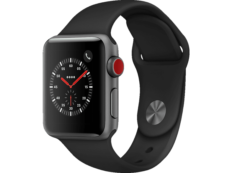 APPLE Watch Series 3 Smartwatch space grey con Bracciale Sport nero