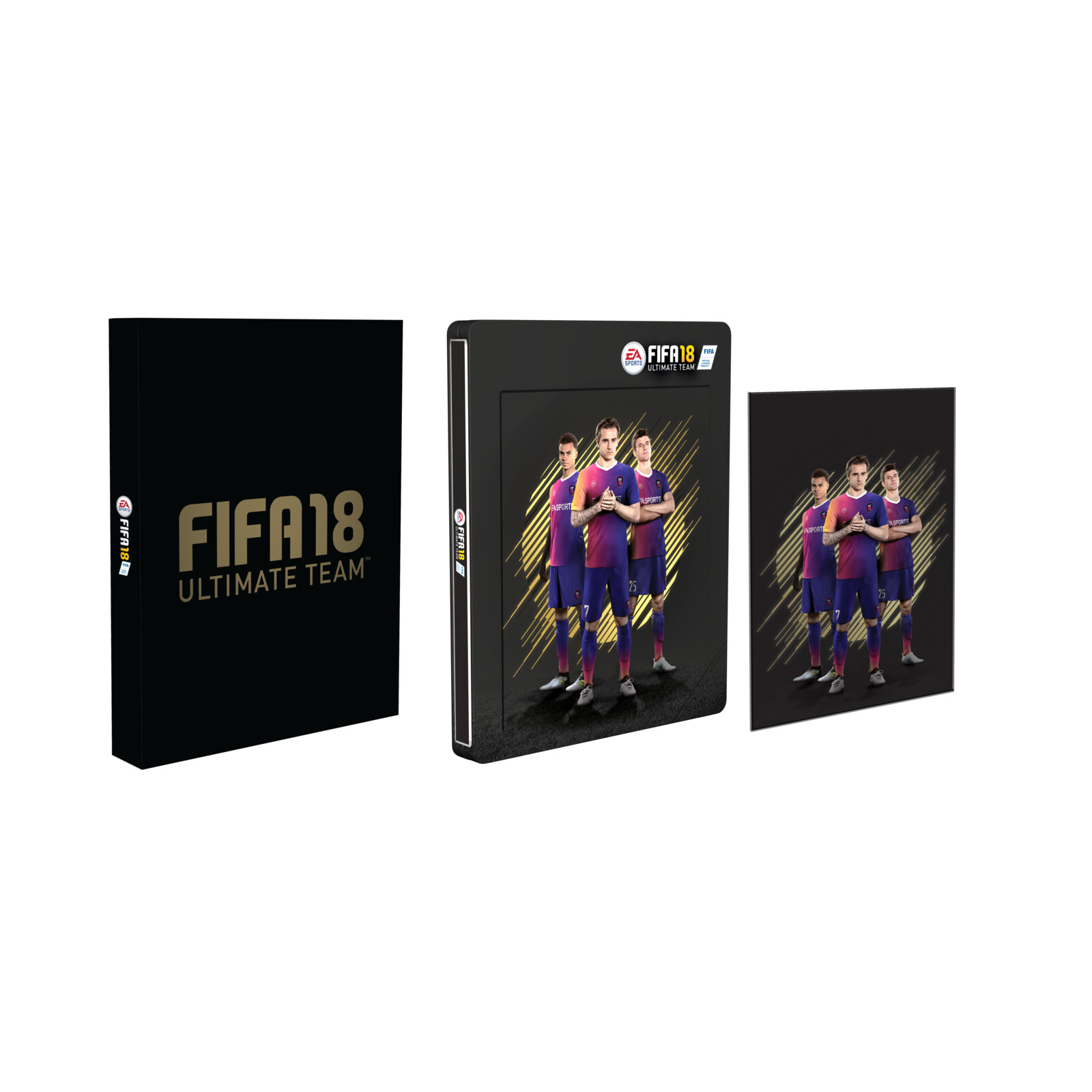 fifa 18 3d lenticular steelbook ebay. Black Bedroom Furniture Sets. Home Design Ideas