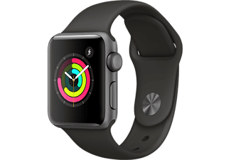 APPLE Watch Series 3 38mm spacegrijs aluminium / grijs sportbandje