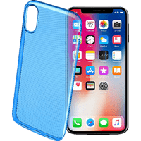 CELLULAR LINE COLOR CASE Backcover Apple iPhone X Thermoplastisches Polyurethan Blau