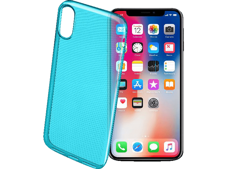 CELLULAR LINE COLOR CASE , Backcover, Apple, iPhone x, Thermoplastisches Polyurethan, Grün