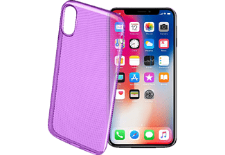 CELLULAR LINE COLOR CASE Handyhülle, Violett, passend für Apple iPhone X