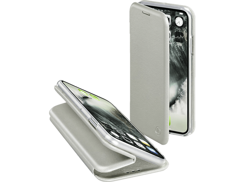 HAMA  Curve Bookcover Apple iPhone X Polyurethan/Thermoplastisches Polyurethan Silber | 04047443362926
