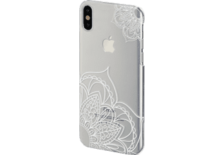 HAMA Lotus Handyhülle, Transparent/Weiß, passend für Apple iPhone X