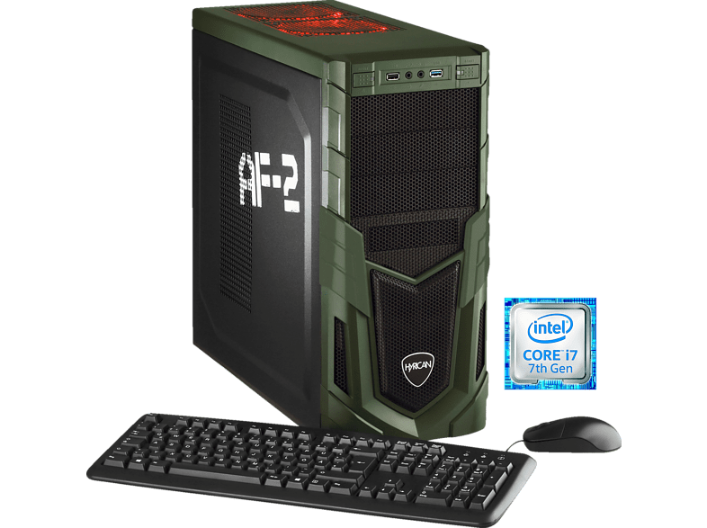 HYRICAN MILITARY 5553, Gaming PC mit Core™ i7 Prozessor, 16 GB RAM, 120 GB SSD, 1 TB HDD, GeForce® GTX 1070, 8 GB