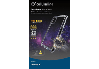 CELLULAR LINE TETRA FORCE Shock-Tech Handyhülle, Transparent, passend für Apple iPhone X