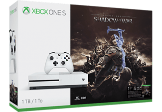 MICROSOFT Xbox One S 1 TB + Middle-earth: Shadow of War