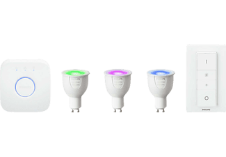 PHILIPS Hue White and color ambiance Starter-Kit, GU10