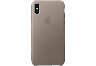 APPLE Leder Case iPhone X Handyhülle, Taupe