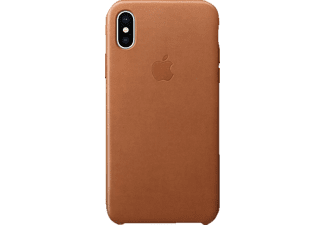 APPLE Leder Case Handyhülle, Apple iPhone X, Sattelbraun