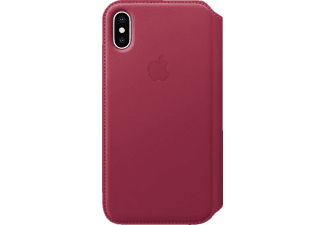 APPLE Leder Case iPhone X Handyhülle, Beere