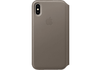 APPLE Leder Case Handyhülle, Taupe, passend für Apple iPhone X
