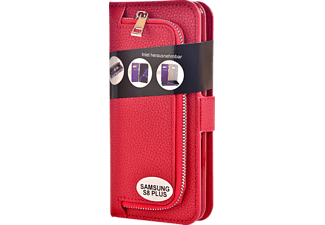 V-DESIGN W-2-1 027 Wallet 2-in-1 Handyhülle, Samsung Galaxy S8+, Rot