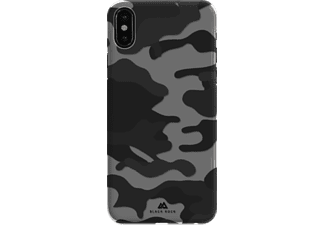 BLACK ROCK Camouflage Handyhülle, Schwarz, passend für Apple iPhone X