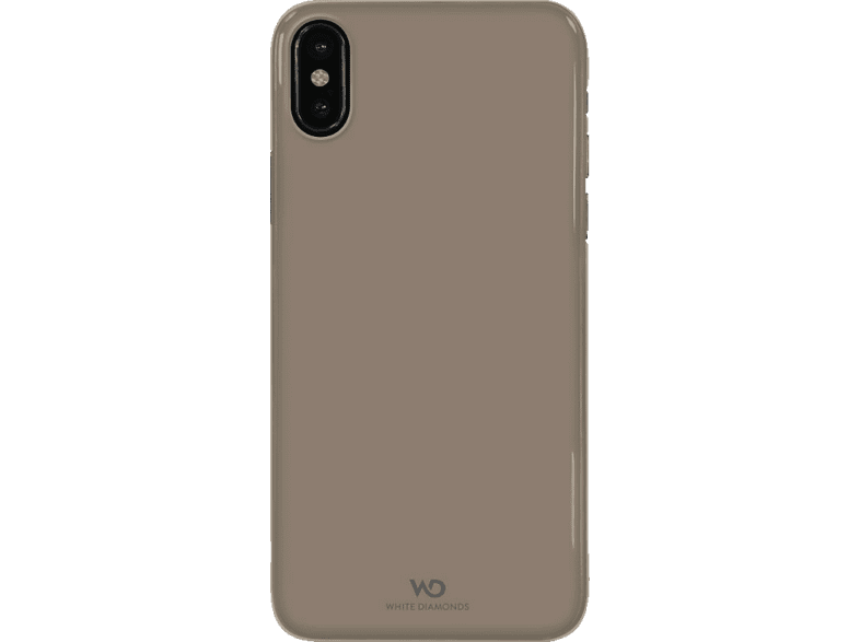 WHITE DIAMONDS Ultra Thin Iced , Backcover, Apple, Iphone X, Polycarbonat/Thermoplastisches Polyurethan, Gold
