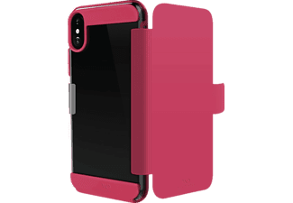 WHITE DIAMONDS Fitness Folio Bookcover Apple iPhone X Thermoplastisches Polyurethan Pink