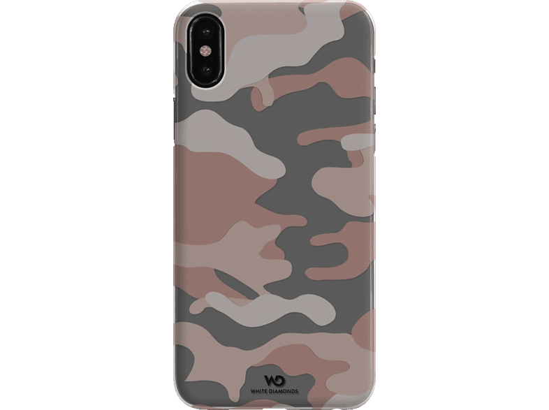 WHITE DIAMONDS Camouflage , Backcover, Apple, iPhone X, Polycarbonat (PC), Rosegold