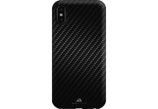 BLACK ROCK Flex Carbon iPhone X Handyhülle, Schwarz